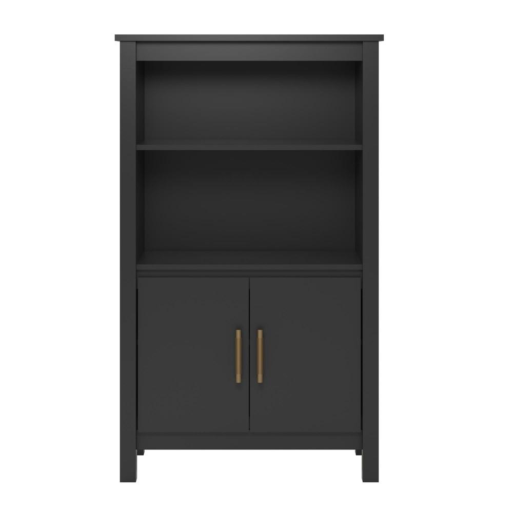 53.05 Springwood 3 Shelf Bookcase with Doors Black - Room & Joy