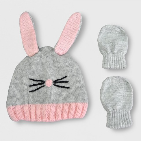 5091940d51973 Toddler Girls  Knit Bunny Hat And Mitten Set - Cat   Jack™ Pink   Target