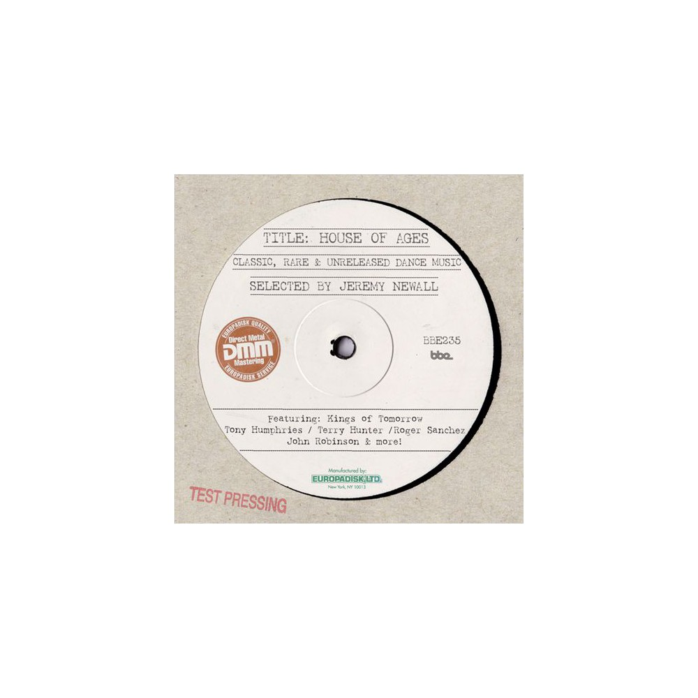 Various - House Of Ages:Selected By Jeremy Newa (Vinyl)