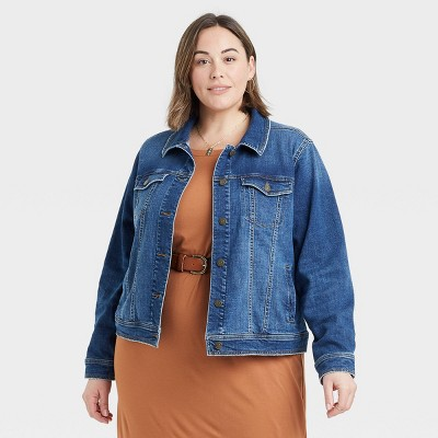Women's Plus Size Denim Jacket - Ava & Viv™