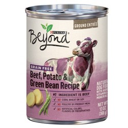 Purina Beyond Grain Free, Natural Pate Wet Dog Food, Grain Free Beef, Potato & Green Bean Recipe - 13oz
