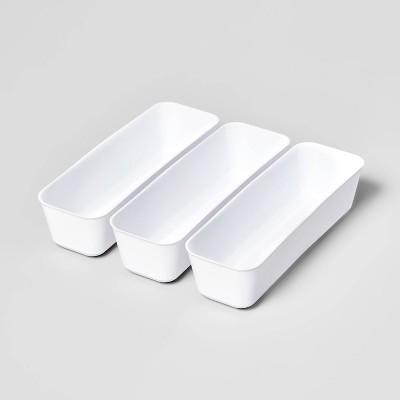 3pk Long Storage Trays White - Room Essentials™