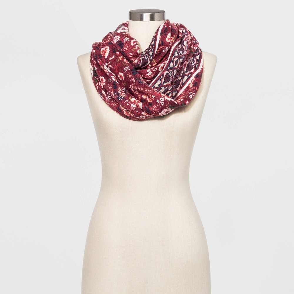 Image of Women's Floral Print Collection XIIX Scarves - One Size, Women's, Red