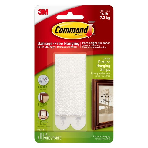 Command Large Picture Hanging Strips 4pk Target