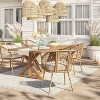 Morie Farmhouse Wood Rectangle Dining Table - Natural - Threshold™ - image 2 of 4