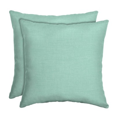 2pk Leala Texture Square Outdoor Throw Pillows - Arden Selections