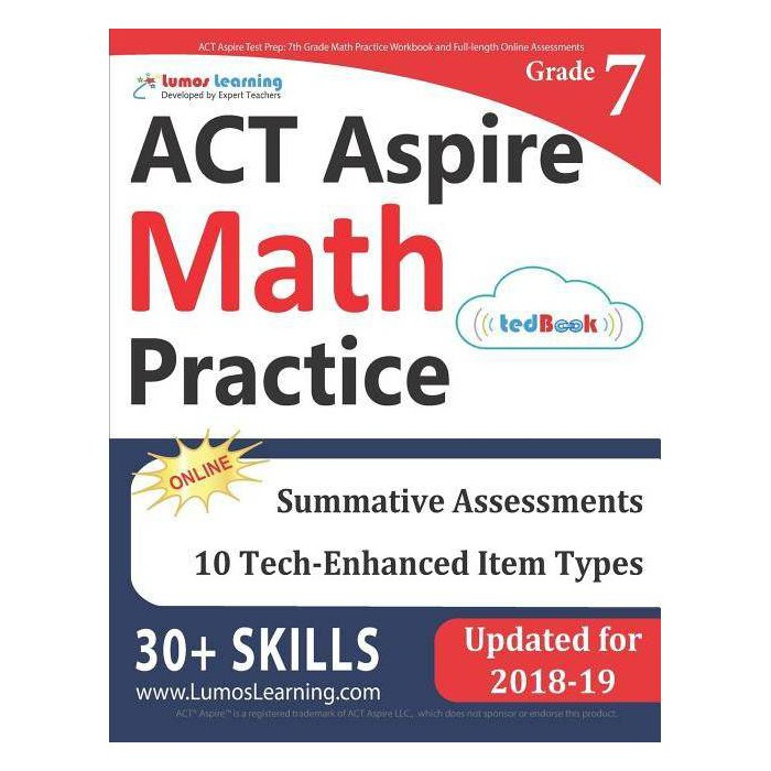 ACT Aspire Test Prep - by  Lumos Learning (Paperback) - image 1 of 1