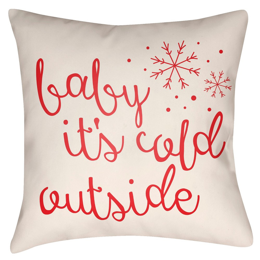 Pink Winter Romance Throw Pillow 16
