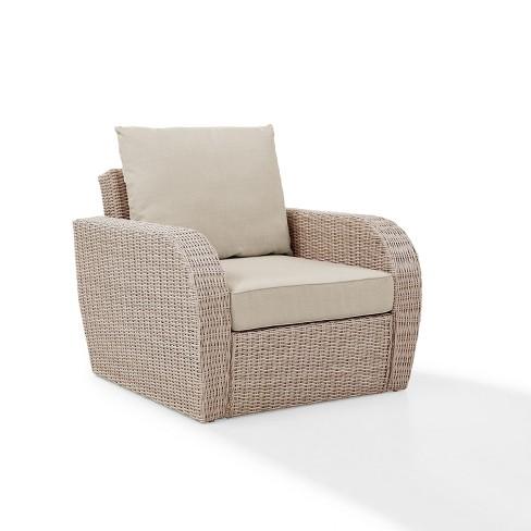 Enjoyable St Augustine Outdoor Wicker Arm Chair Oatmeal Crosley Short Links Chair Design For Home Short Linksinfo