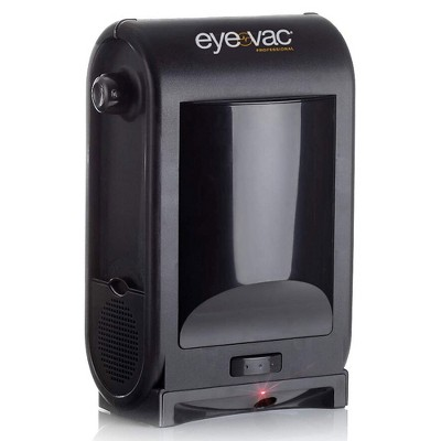EyeVac Touchless Electric Stationary Vacuum Hard Floor Cleaner Machine with High Quality Air Filter for Home or Commercial Sweeping, Black