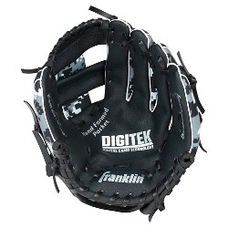"Franklin Sports 10"" RTP Teeball Performance Glove Black/White-Right Handed Thrower"