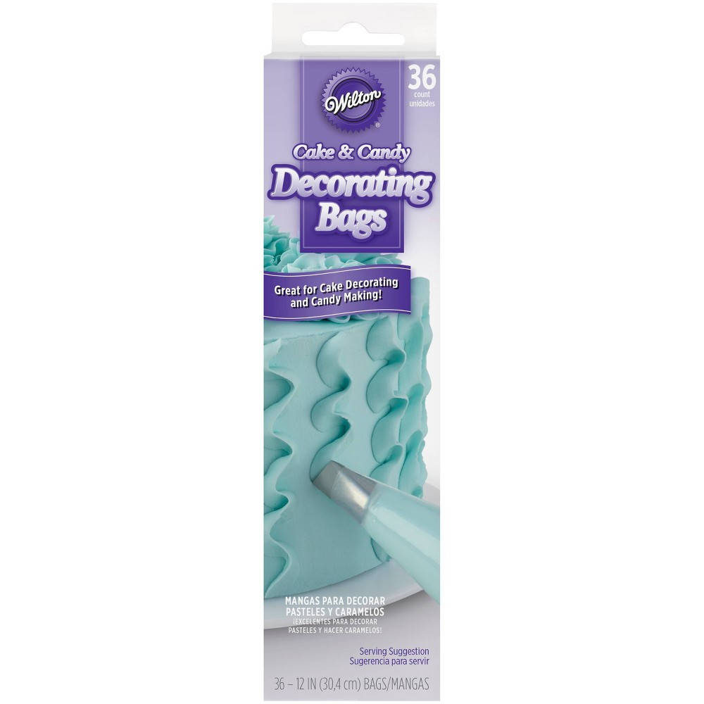 Image of Wilton 36ct 12'' Decorating Disposable Bags, Clear