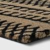"1'6""X2'6""/18""X30"" Stripe Tufted Doormat Black - Project 62™ - image 2 of 3"