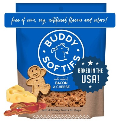 Buddy Biscuits Soft and Chewy Treats with Bacon and Cheese Dry Dog Treats