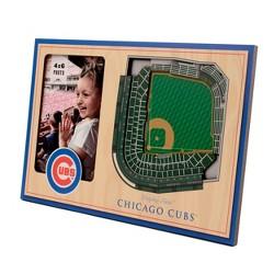 "MLB Chicago Cubs Stadium View Photo Frame - 4"" x 6"""
