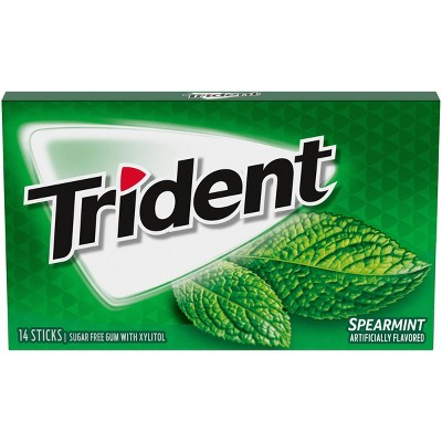 Trident Spearmint Sugar Free Gum - 14ct