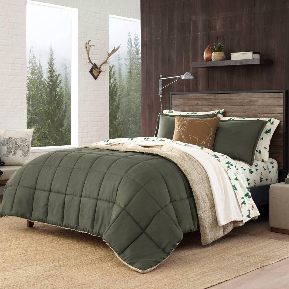 Image of Eddie Bauer Full/Queen Sherwood Comforter Set Green