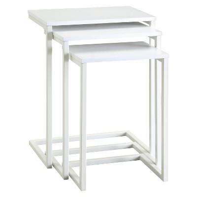 Caroline Nesting Table Set White - Carolina Forge