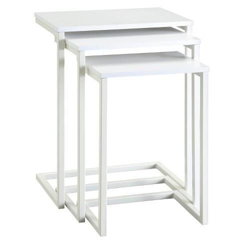 Caroline Nesting Table Set White - Carolina Forge - image 1 of 3