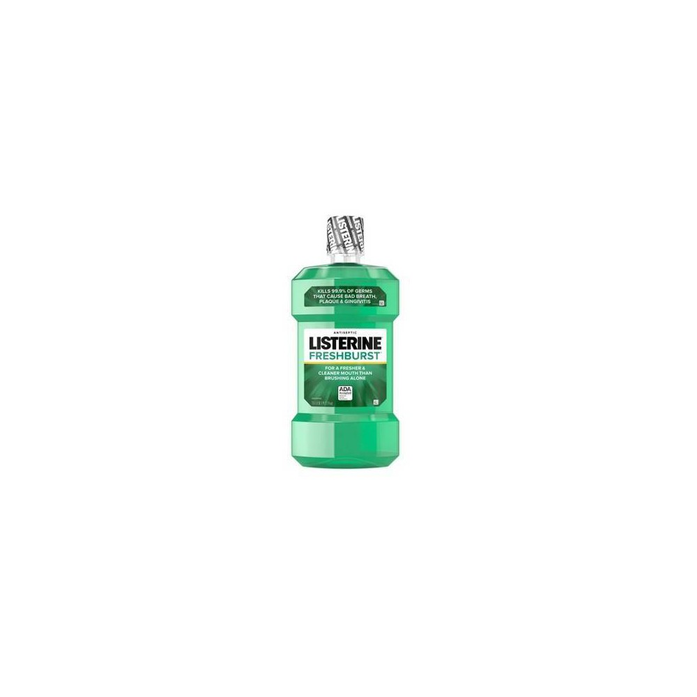 Image of Listerine Freshburst Antiseptic Mouthwash For Bad Breath - 1.5L, Size: 50.72 fl oz