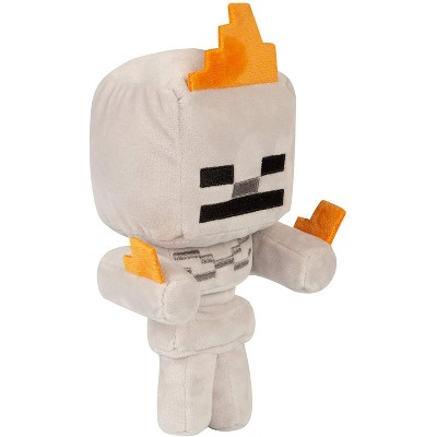 JINX Inc. Minecraft Happy Explorer Series 7 Inch Plush   Skeleton On Fire