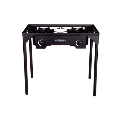 Stansport Outdoor Double Burner Stove With Stand