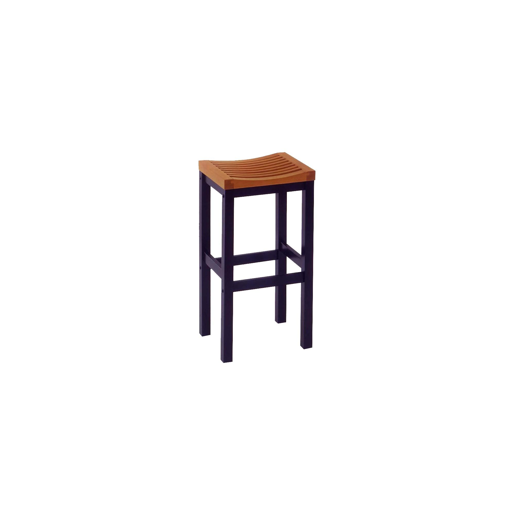 'Saddle Seat 24'' Counter Stool Hardwood/Black -Home Styles'