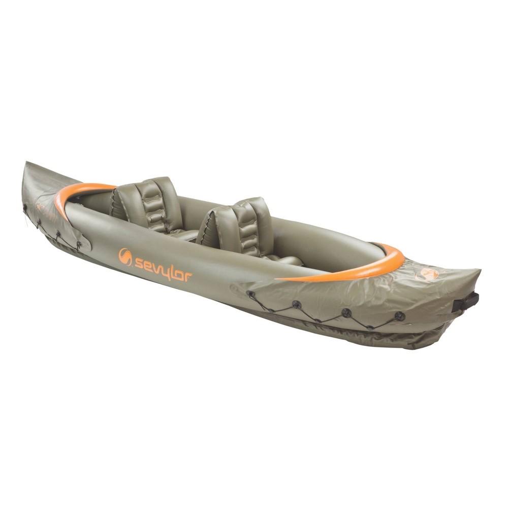 Image of Sevylor Tahiti Fish/Hunt 2-Person Inflatable Kayak - Brown, Yellow