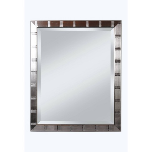 """28"""" x 34"""" Creekside Collection Silver Beveled Glass Wall Mirror Silver - Alpine Art and Mirror - image 1 of 4"""
