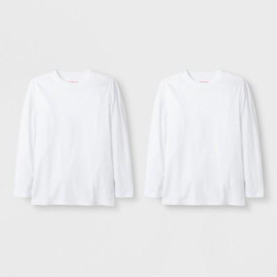 Boys' 2pk Long Sleeve T-Shirt - Cat & Jack™ White