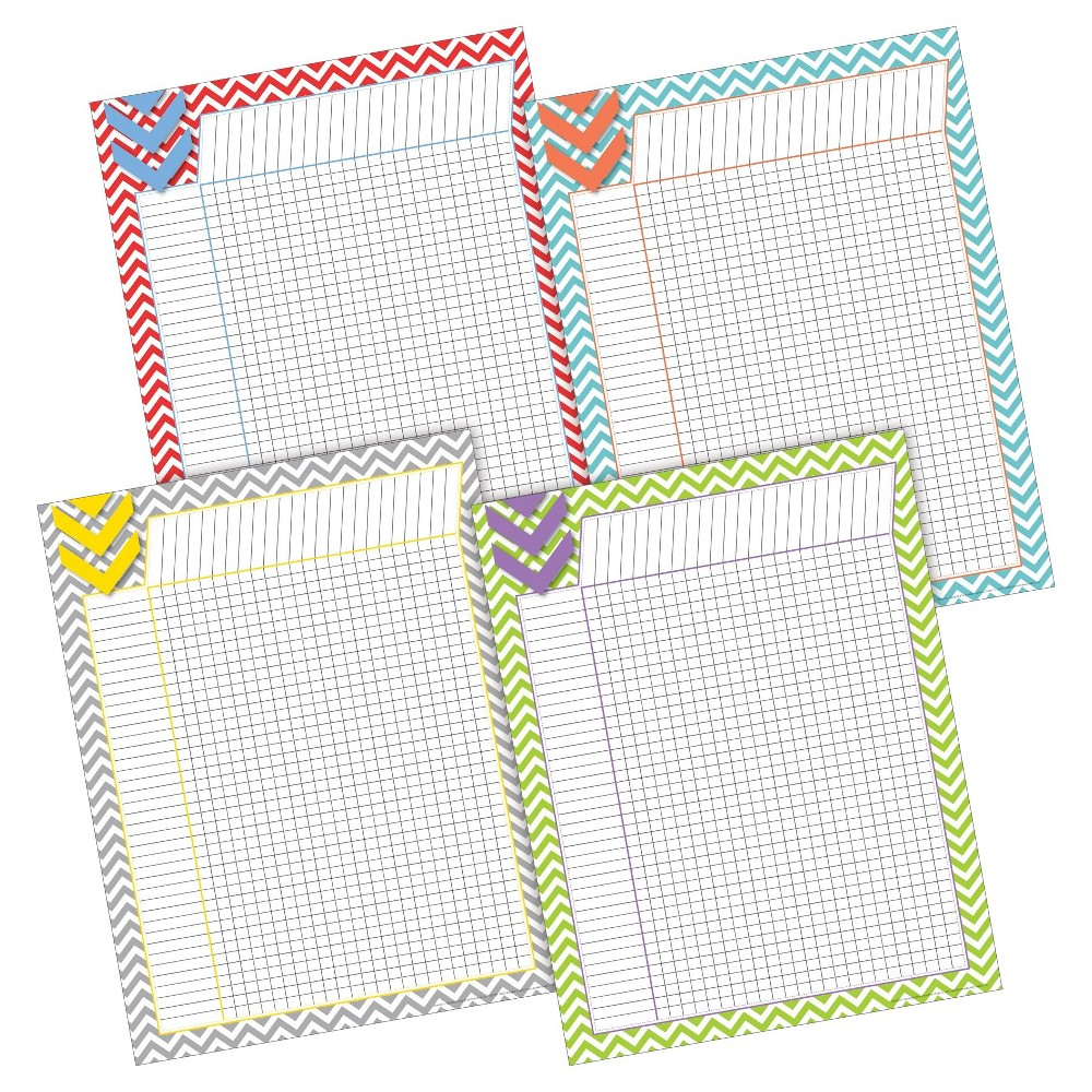 Image of Barker Creek Classroom Incentive Chart Set 4ct - Bright Chevron