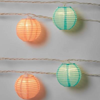 10ct Incandescent Mini Lights with Nylon Lanterns - Sun Squad™