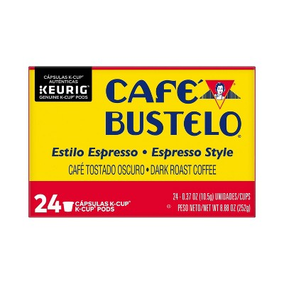 Cafe Bustelo Espresso Dark Roast Coffee - Keurig K-Cup Pods - 24ct