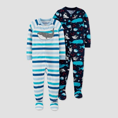 Baby Boys' Whale Footed Pajama - Just One You® made by carter's Blue 12M