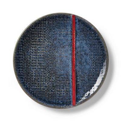 "6.75"" Red Stripe Stoneware Appetizer Plate Blue - Levi's® x Target"
