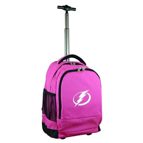 NHL Tampa Bay Lightning Mojo Premium Wheeled Backpack - Pink - image 1 of 4