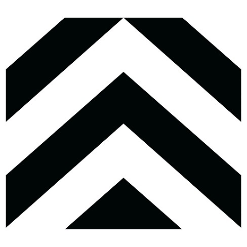 Devine Color Zig Zag Peel Stick Wallpaper Black White Target