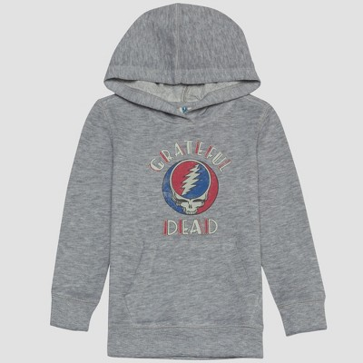 Junk Food Toddler Boys' Grateful Dead Concert Hooded Sweatshirt - Gray 2T
