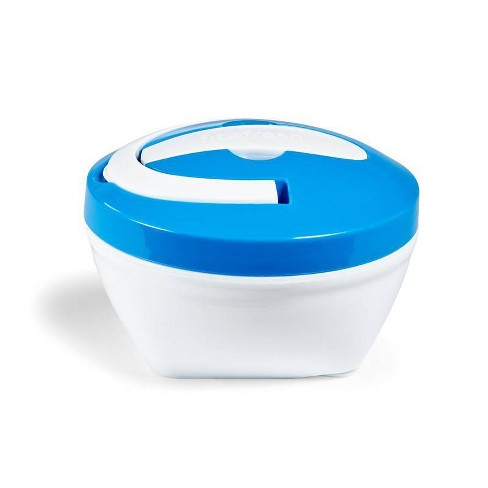 Fit & Fresh Hot Lunch Bowl with Spoon - Blue/Red - image 1 of 4