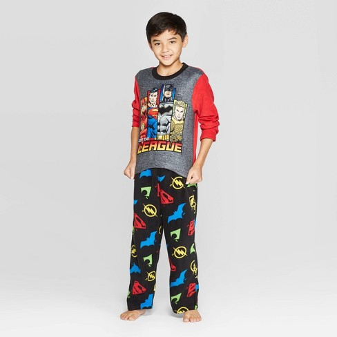 Boys' Justice League 2pc Pajama Set - Red - image 1 of 3