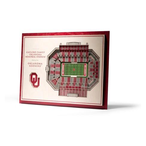 NCAA Oklahoma Sooners 5-Layer StadiumViews 3D Wall Art - image 1 of 4