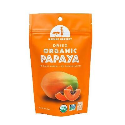 Dried Organic Papaya Fruit - 2oz - Mavuno Harvest