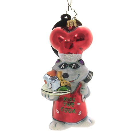 Christopher Radko Kiss The Cook Ornament Christmas Raccoon Cook - image 1 of 2