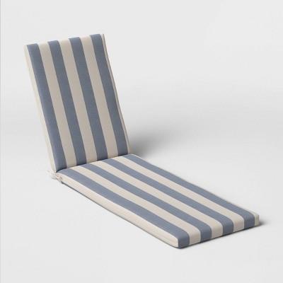 Cabana Stripe Outdoor Chaise Cushion DuraSeason Fabric™ Navy - Threshold™
