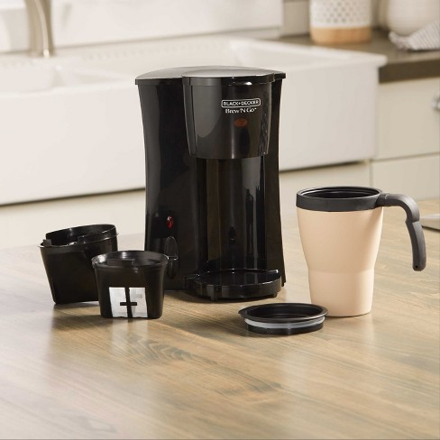 Blackdecker Personal Coffeemaker With Travel Mug Black Dcm18 Target
