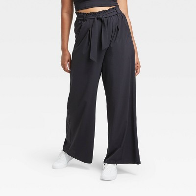 "Women's Stretch Woven Wide Leg Pants 29.5"" - All in Motion™"