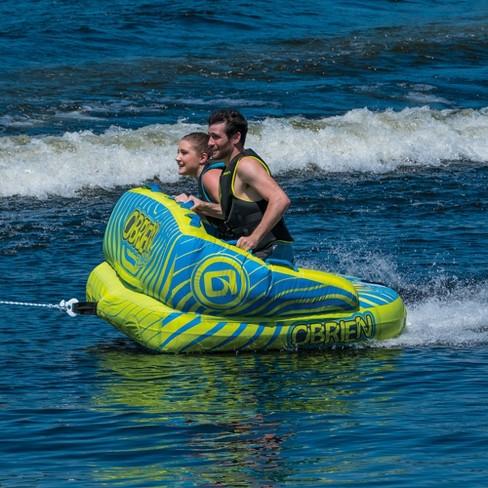 O'Brien Baller Kickback Series 2 Person 2 Way Inflatable Towable Rider Tube