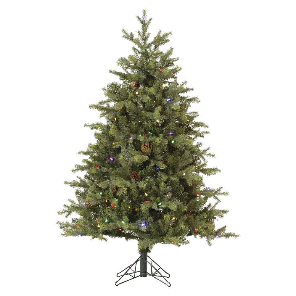 10ft Rocky Mountain Fir Led Pre-Lit Instant Artificial Christmas Tree Full - Multicolor Lights