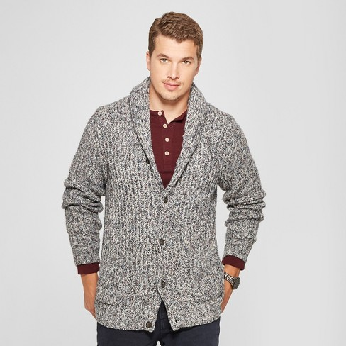 Mens Button Up Shawl Cardigan Goodfellow Co Cement Target