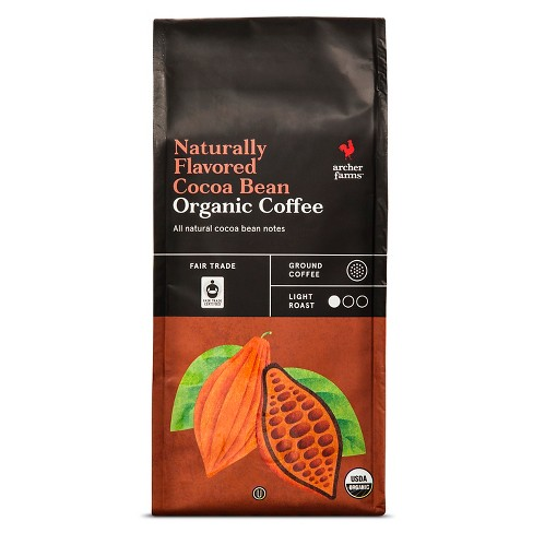 Naturally Flavored Cocoa Bean Organic Light Roast Ground Coffee - 10oz - Archer Farms™ - image 1 of 3